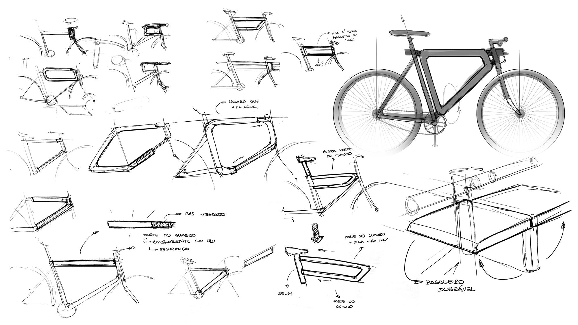 umabike. bicicleta bicycle sketches