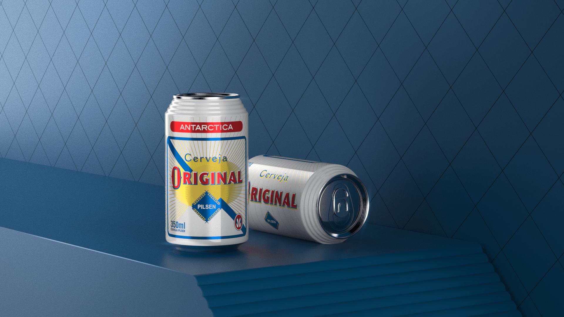 design de lata cerveja original